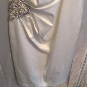 Dresses - White one shoulder  wedding dress